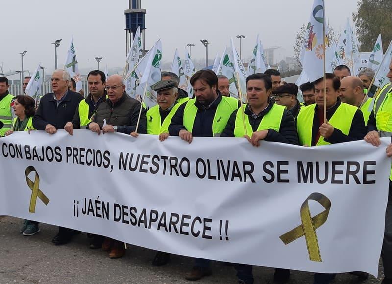 Marcha olivarera a Madrid en marzo