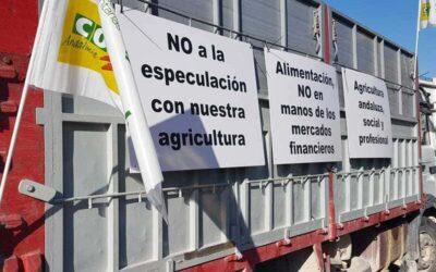 Un millar de vehículos claman en Sevilla por una PAC justa para Andalucía
