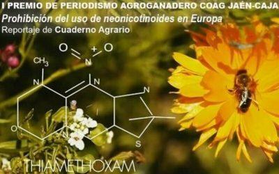 Un reportaje sobre neonicotinoides gana el  I Premio de Periodismo Agroganadero Coag Jaén-Caja Rural